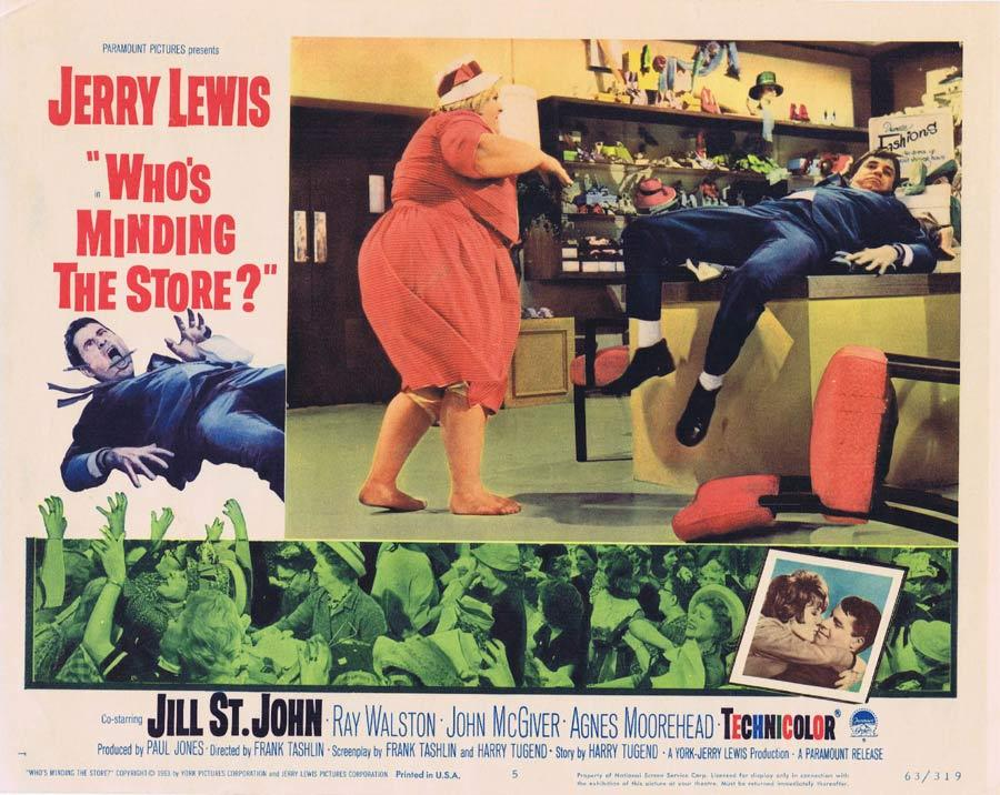 WHO'S MINDING THE STORE Lobby card 5 Jerry Lewis Nancy Kulp