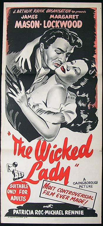 THE WICKED LADY Original Daybill Movie Poster Margaret Lockwood James Mason