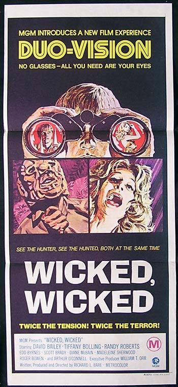 WICKED WICKED Original Daybill Movie Poster Tiffany Bolling Horror