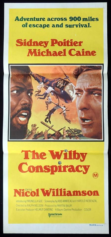 THE WILBY CONSPIRACY LISTING Original Daybill Movie Poster Michael Caine Sidney Poitier Nicol Williamson