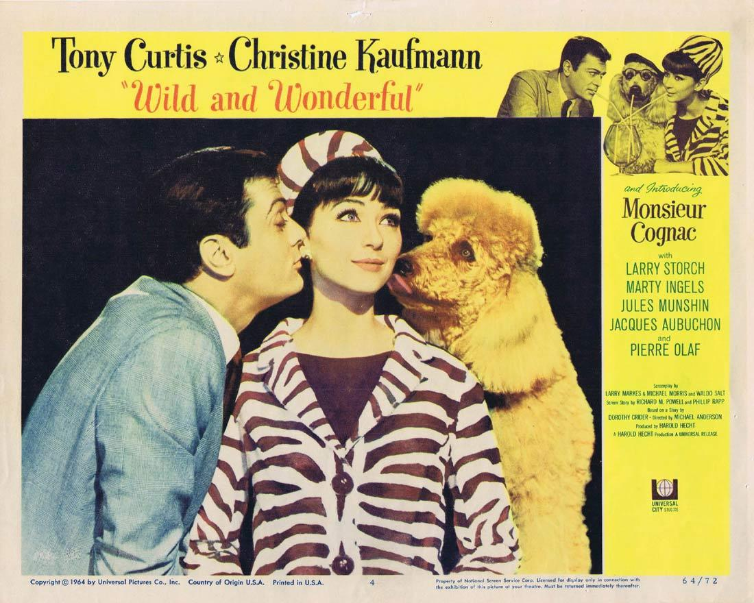 WILD AND WONDERFUL Lobby Card 4 Tony Curtis Christine Kaufmann