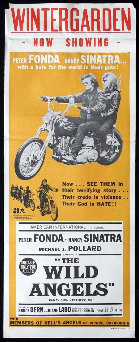 ThE WILD ANGELS Original Daybill Movie Poster Peter Fonda Nancy Sinatra Bruce Dern