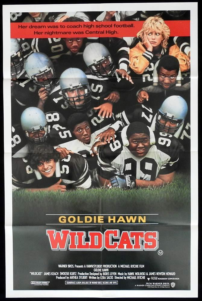 WILDCATS Original One sheet Movie Poster Goldie Hawn LL Cool J Varsity Football