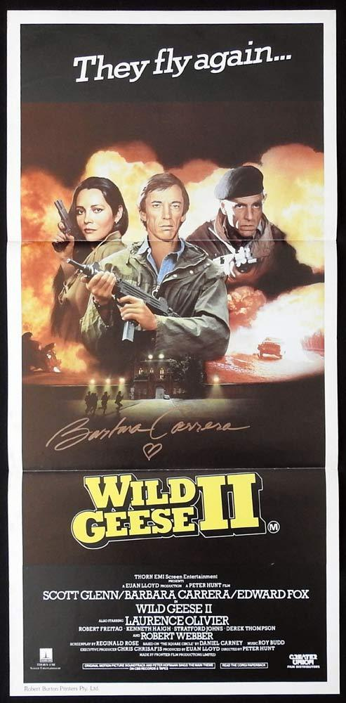 WILD GEESE II Original Daybill Movie Poster BARBARA CARRERA Autograph