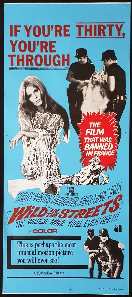 WILD IN THE STREETS Original Daybill Movie Poster Diane Varsi Shelley Winters