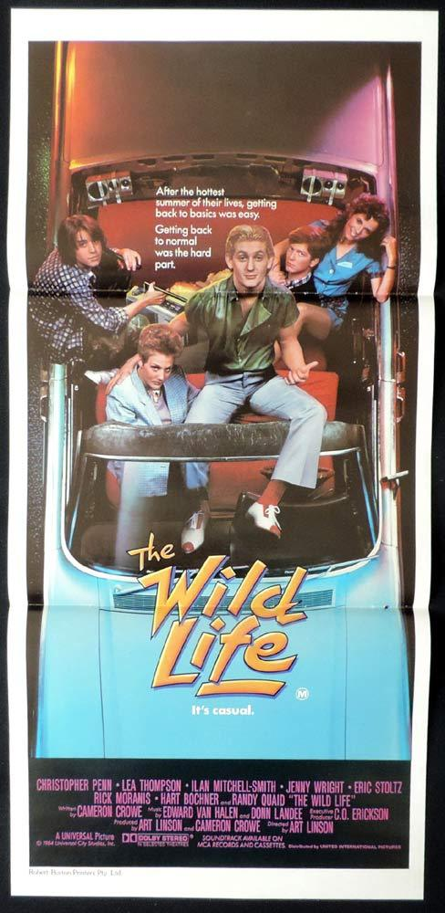 THE WILD LIFE Original daybill Movie Poster Christopher Penn Lea Thompson