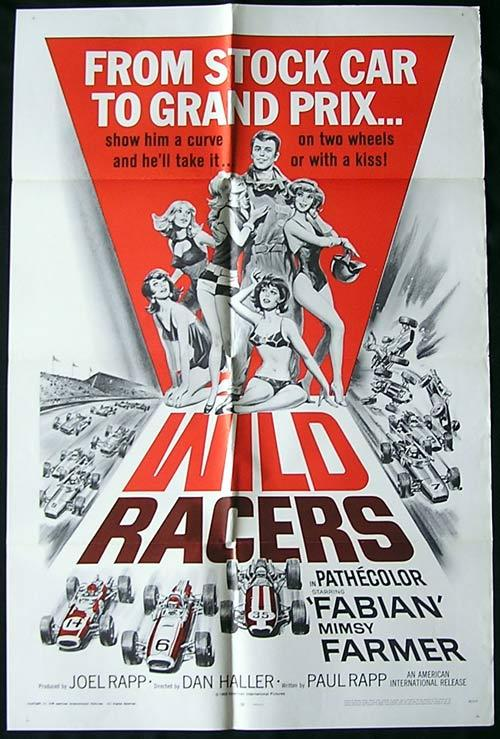 The WILD RACERS Original One sheet Movie poster Grand Prix Motor Racing