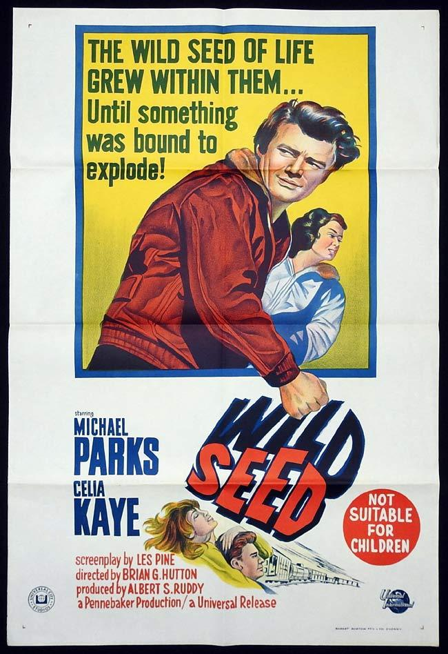 WILD SEED Original One sheet Movie poster MICHAEL PARKS Celia Kaye