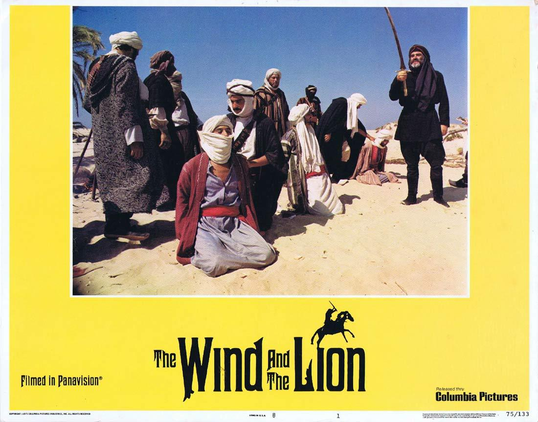 THE WIND AND THE LION Original Lobby Card 1 Sean Connery Candice Bergen