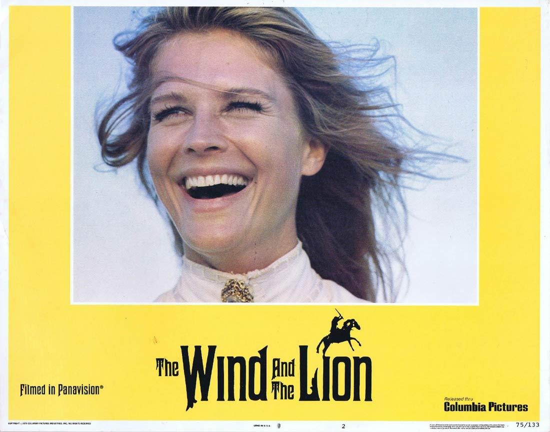 THE WIND AND THE LION Original Lobby Card 2 Sean Connery Candice Bergen