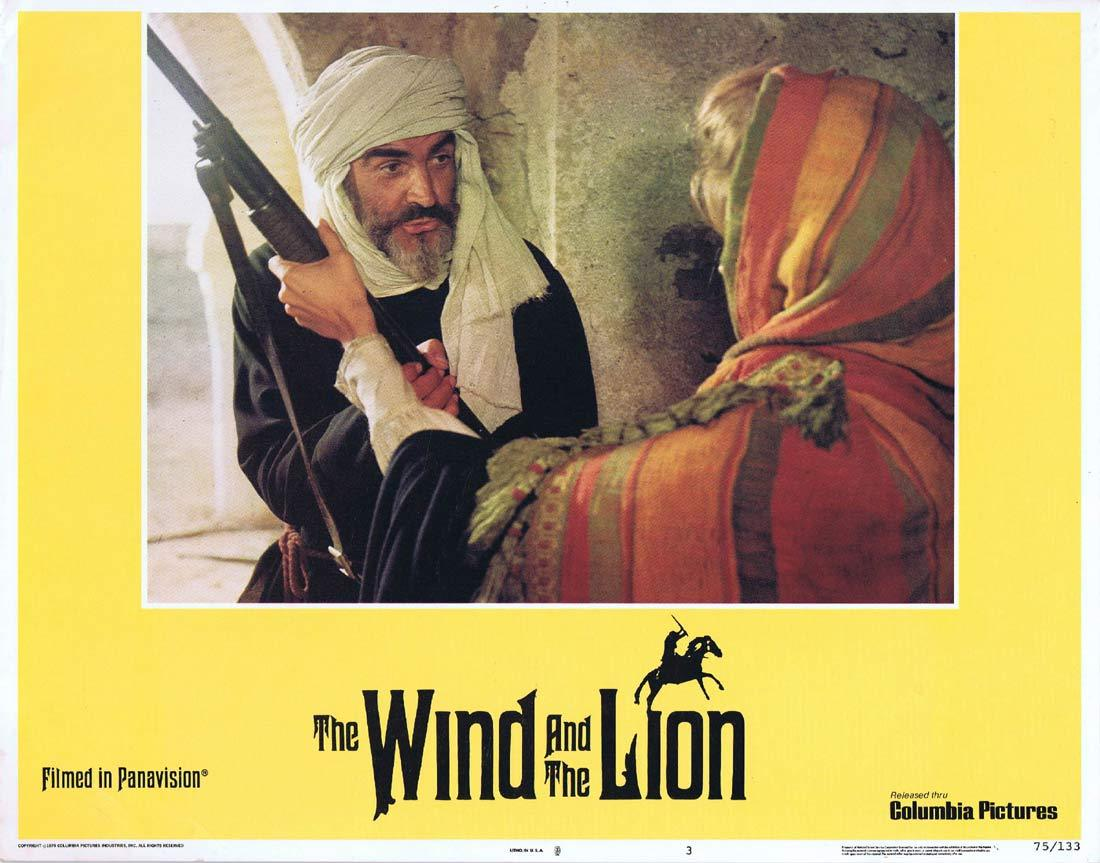 THE WIND AND THE LION Original Lobby Card 3 Sean Connery Candice Bergen