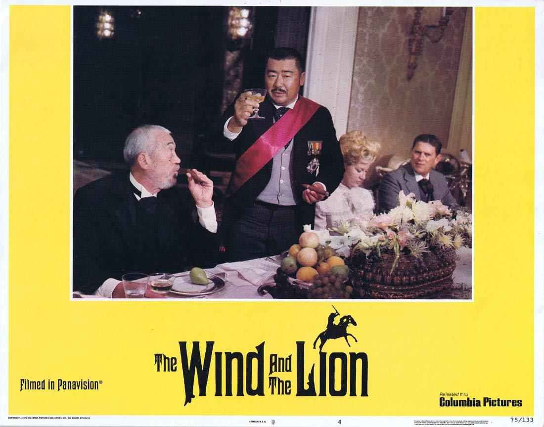 THE WIND AND THE LION Original Lobby Card 4 Sean Connery Candice Bergen