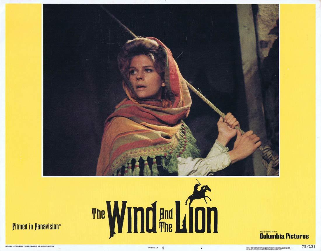 THE WIND AND THE LION Original Lobby Card 7 Sean Connery Candice Bergen