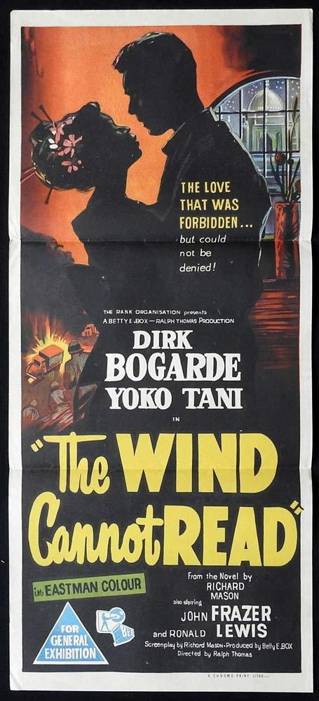 THE WIND CANNOT READ Original Daybill Movie Poster Dirk Bogarde