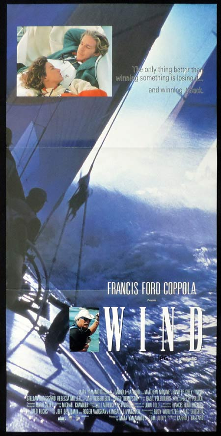 WIND Original Daybill Movie Poster Matthew Modine America's Cup Yachting