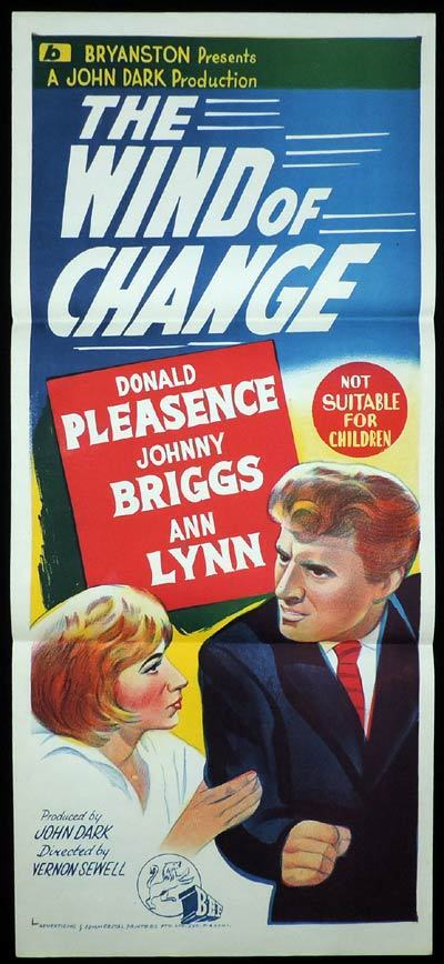 THE WIND OF CHANGE Daybill Movie poster Donald Pleasance