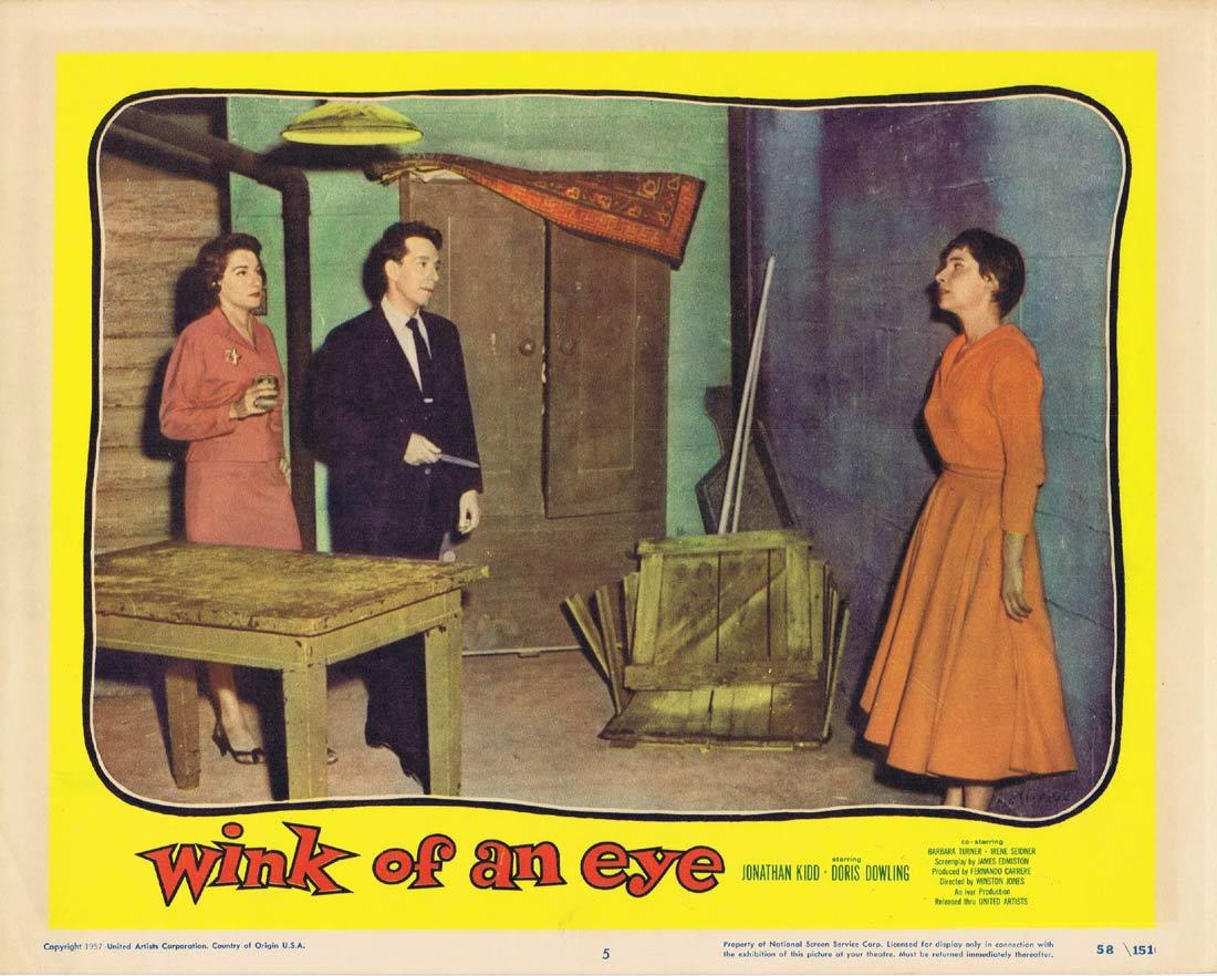 WINK OF AN EYE Lobby Card 5 Jonathan Kidd Doris Dowling Barbara Turner