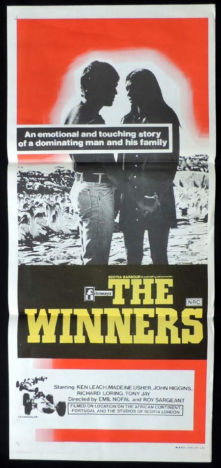 THE WINNERS Original Daybill Movie Poster Motor Racing South African Cinema