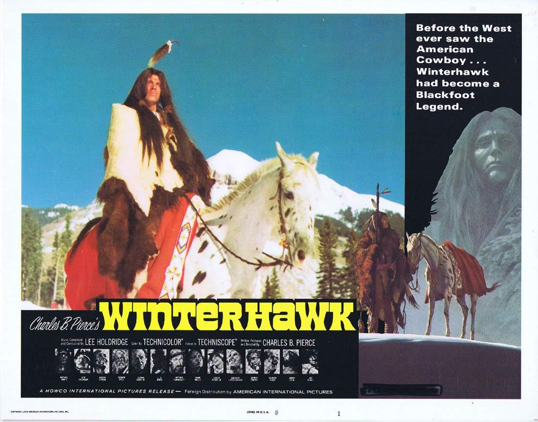 WINTERHAWK Original Lobby Card 1 Leif Erickson Woody Strode