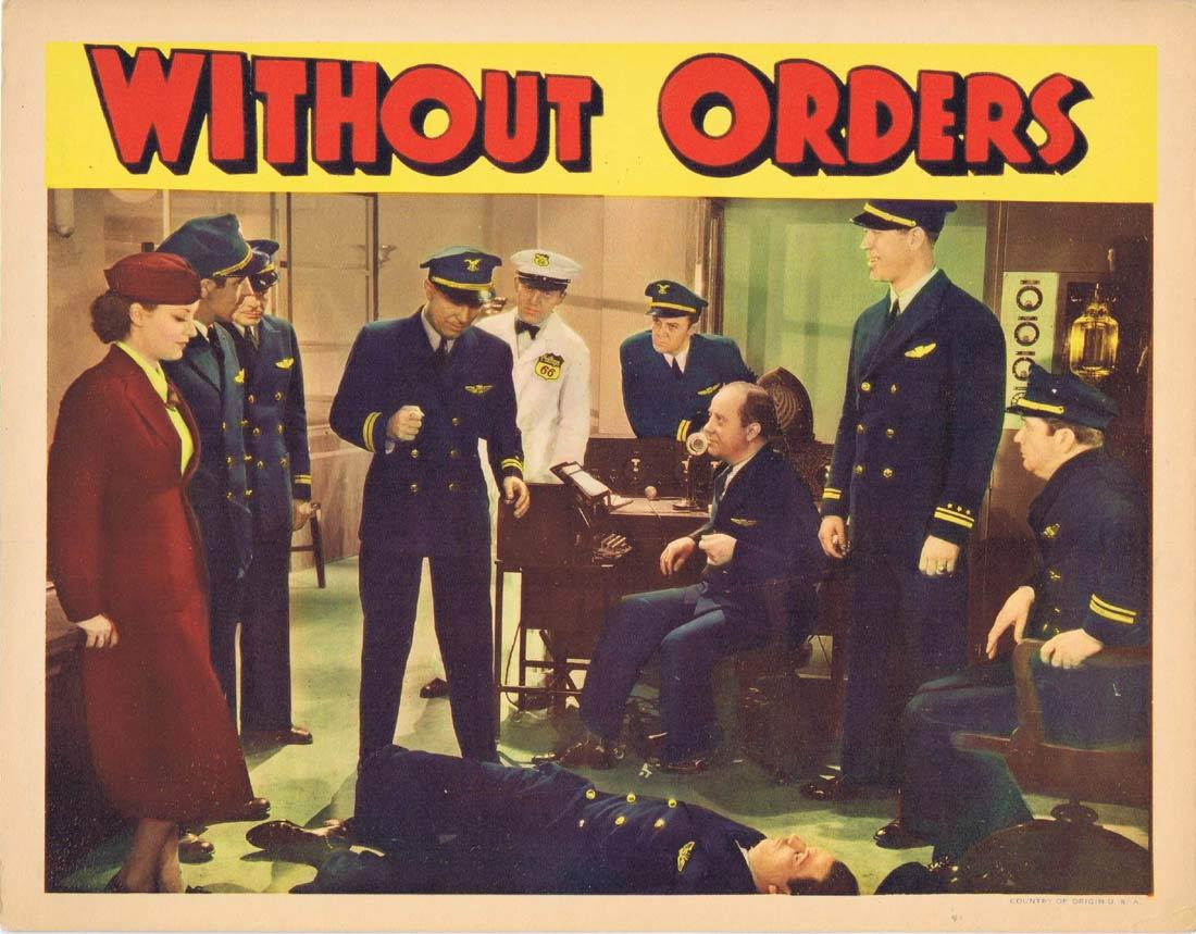 WITHOUT ORDERS Lobby card 1 1936 Ward Bond Sally Eilers