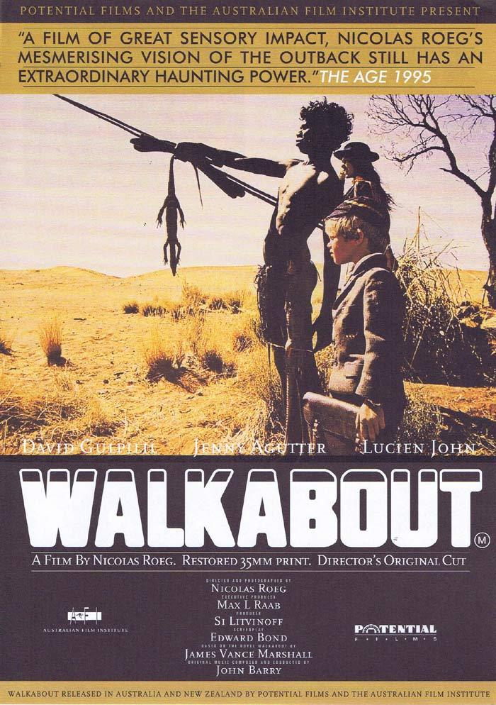 WALKABOUT Original Movie Directors Cut Handbill Flyer 1995