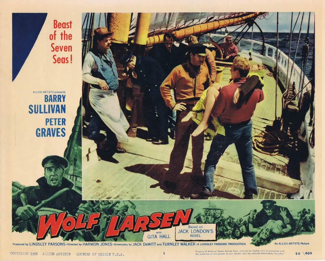 WOLF LARSEN Lobby Card 1 Barry Sullivan Peter Graves