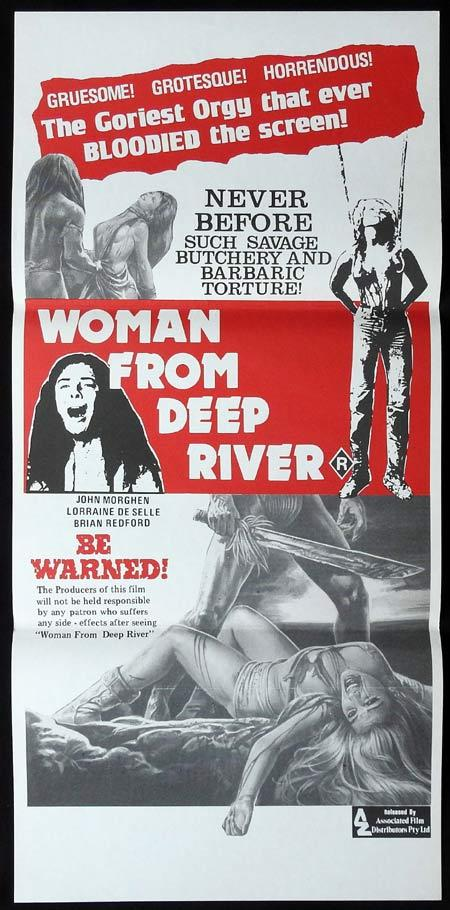 WOMAN FROM DEEP RIVER Original Daybill Movie Poster Cannibal Ferox