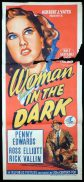 WOMAN IN THE DARK Daybill Movie Poster Penny Edwards FILM NOIR