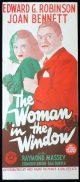 THE WOMAN IN THE WINDOW Original Daybill Movie Poster RKO Edward G. Robinson