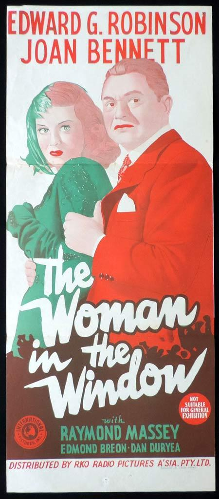 THE WOMAN IN THE WINDOW Original Daybill Movie Poster RKO Edward G. Robinson
