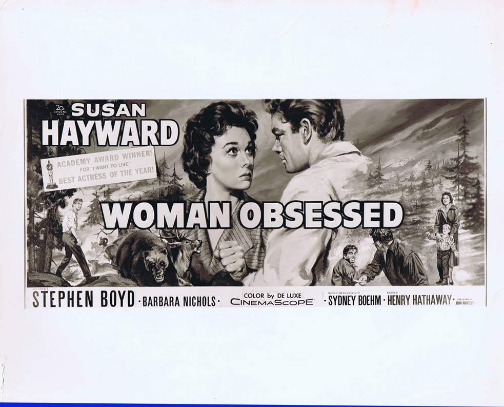 WOMAN OBSESSED Vintage Movie Artwork Still Susan Hayward Stephen Boyd