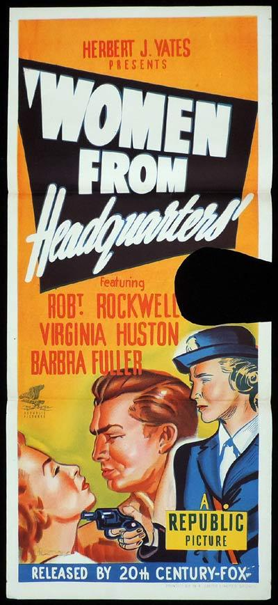 WOMEN FROM HEADQUARTERS Original Daybill Movie Poster Frances Charles