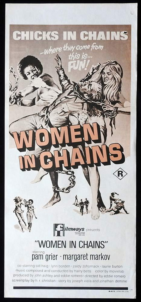 WOMEN IN CHAINS Black Mama White Mama Original Daybill Movie Poster Pam Grier