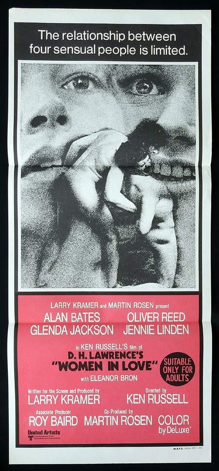 WOMEN IN LOVE Original Daybill Movie Poster Alan Bates Oliver Reed Glenda Jackson