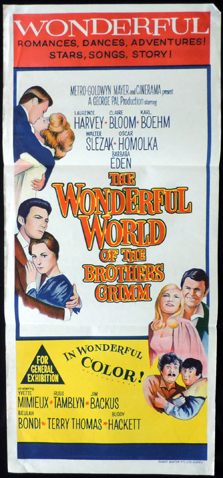 THE WONDERFUL WORLD OF THE BROTHERS GRIMM Original daybill Movie Poster