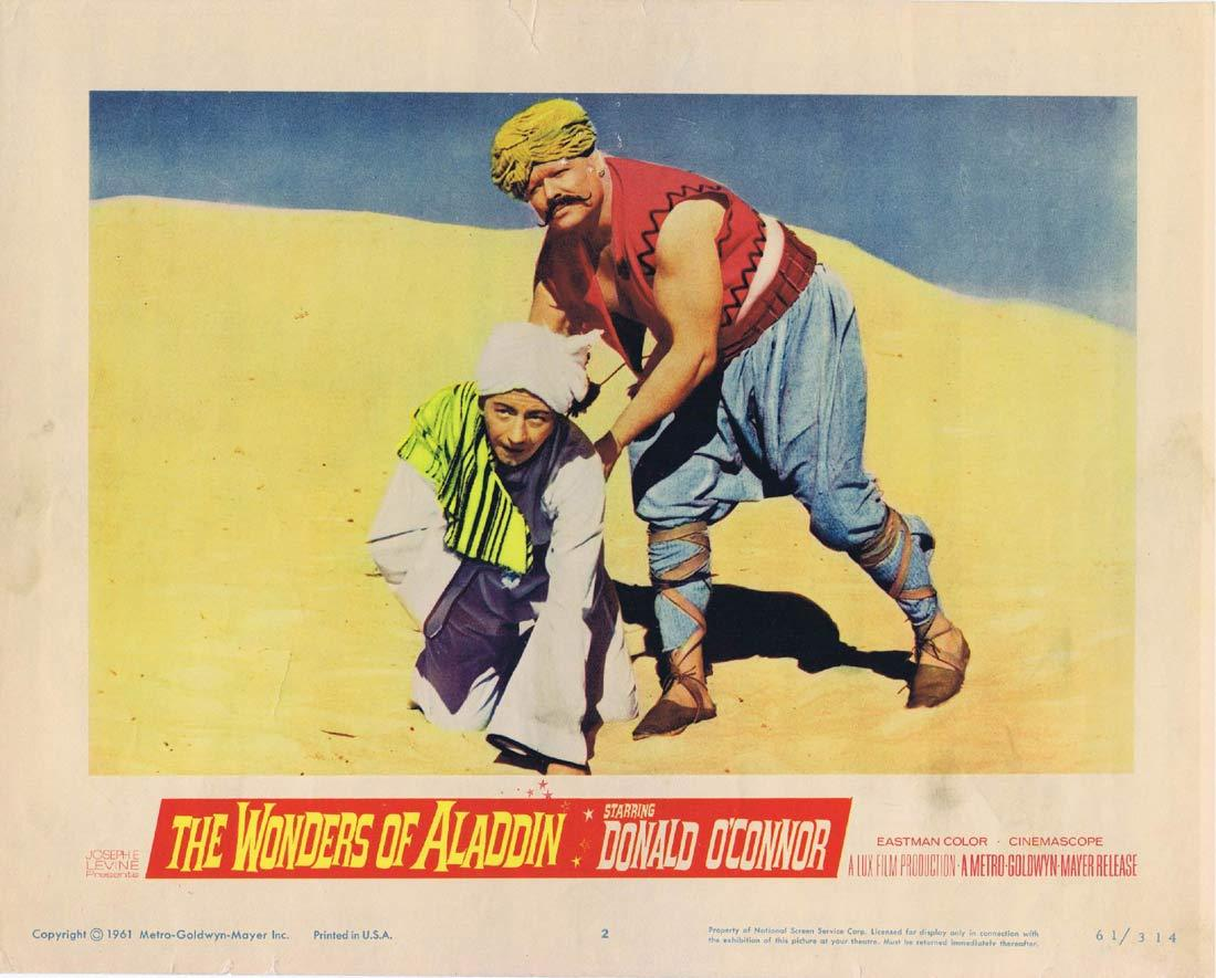 THE WONDERS OF ALADDIN Lobby Card 2 Donald O'Connor Mario Bava