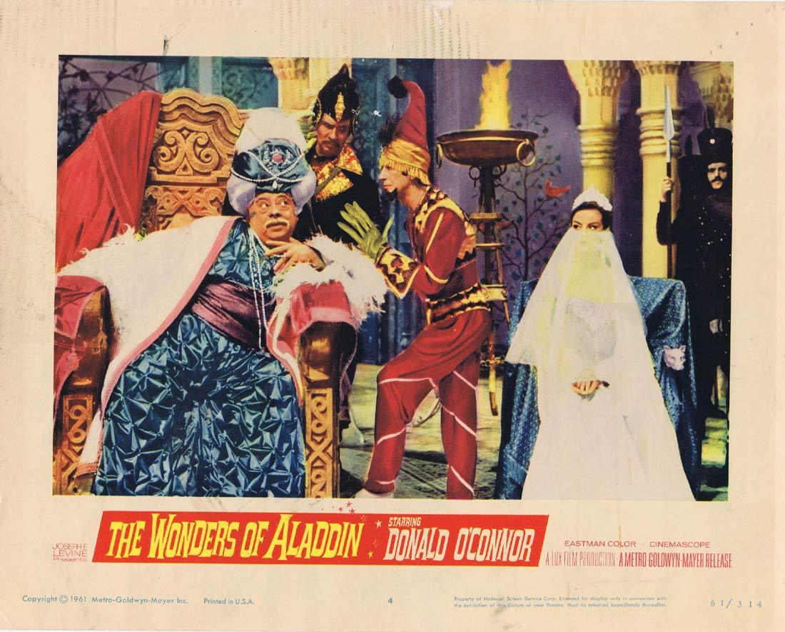 THE WONDERS OF ALADDIN Lobby Card 4 Donald O'Connor Mario Bava