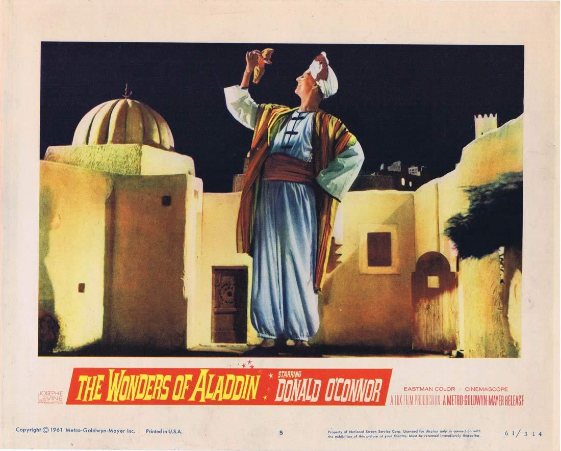 THE WONDERS OF ALADDIN Lobby Card 5 Donald O'Connor Mario Bava