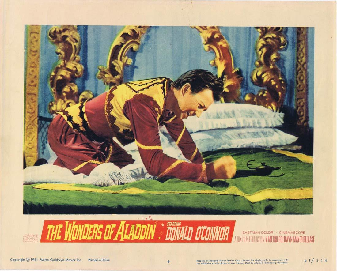 THE WONDERS OF ALADDIN Lobby Card 6 Donald O'Connor Mario Bava