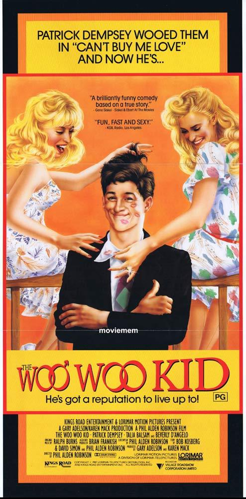 THE WOO WOO KID aka IN THE MOOD Original daybill Movie Poster Patrick Dempsey