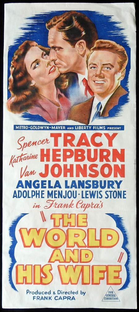 THE WORLD AND HIS WIFE Original Daybill Movie Poster KATHARINE HEPBURN Spencer Tracy Frank Capra State of the Union