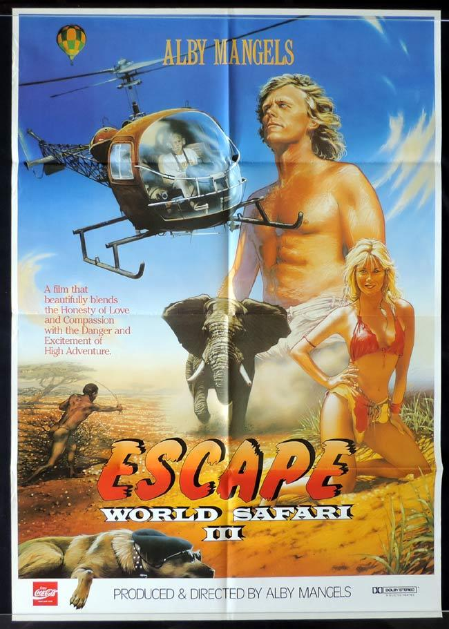ESCAPE WORLD SAFARI III Australian One sheet Movie poster Alby Mangels Judy Green