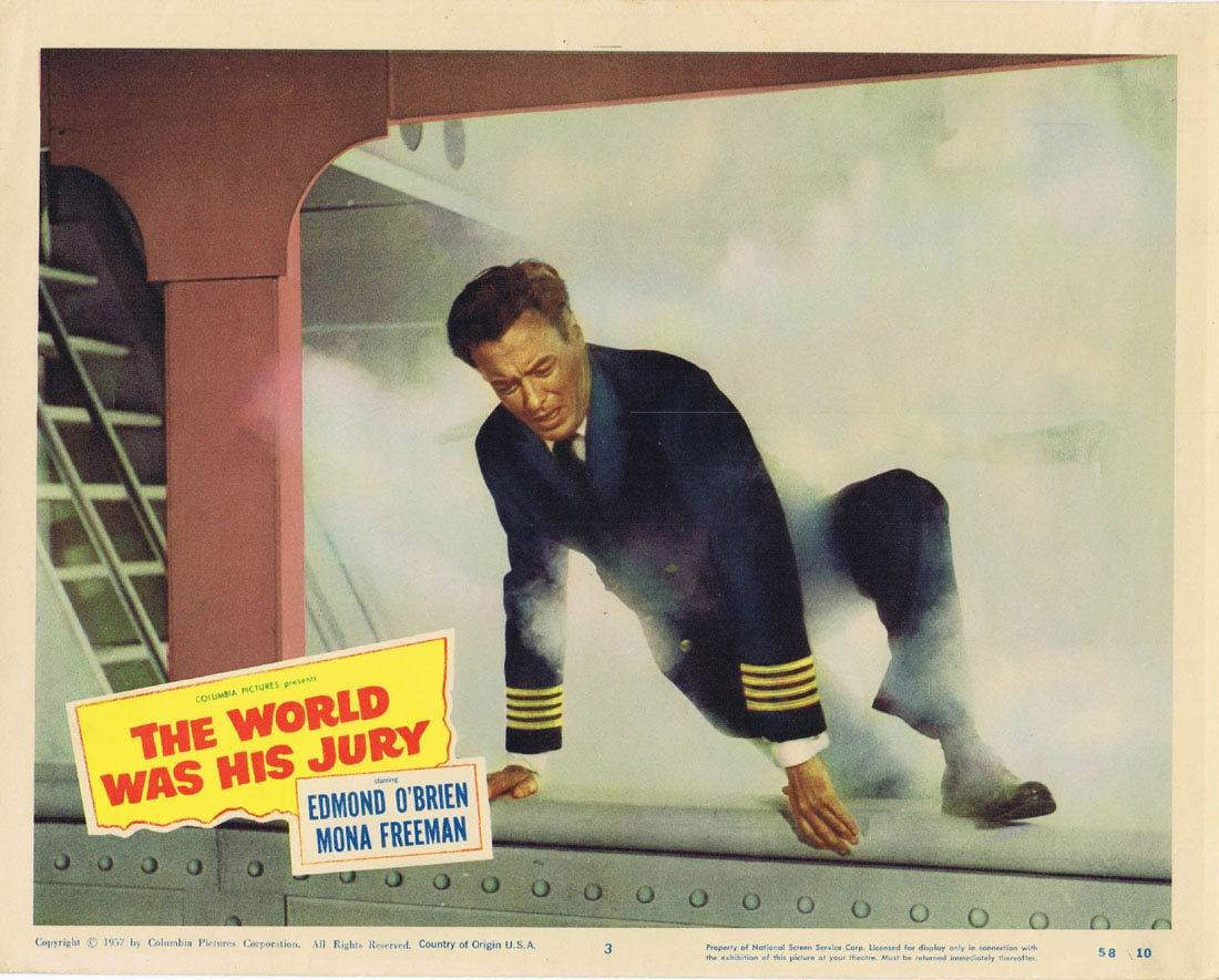 THE WORLD WAS HIS JURY Lobby card 3 Edmond O'Brien Mona Freeman