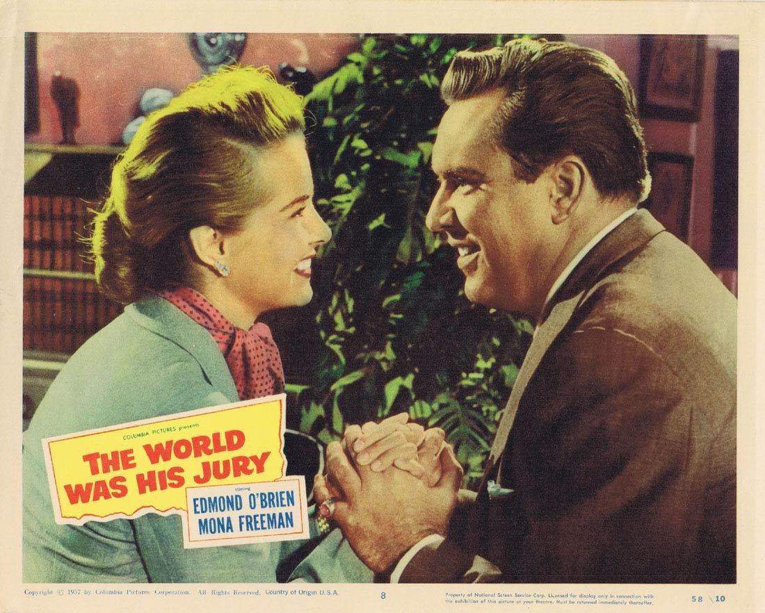 THE WORLD WAS HIS JURY Lobby card 8 Edmond O'Brien Mona Freeman