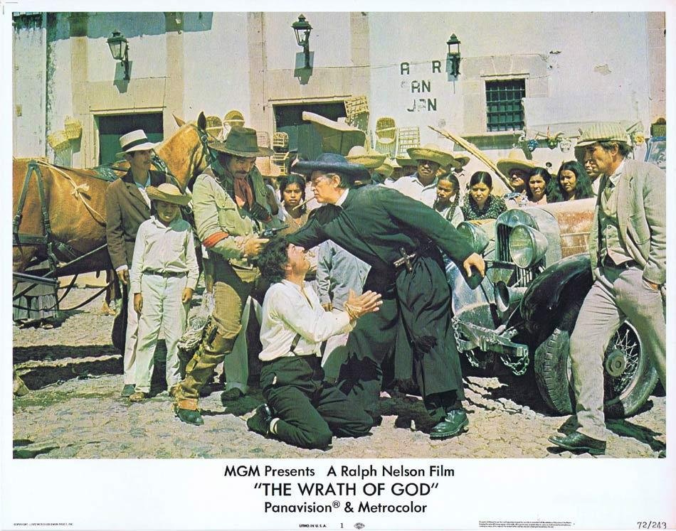 THE WRATH OF GOD Lobby Card 1 Robert Mitchum Rita Hayworth Frank Langella