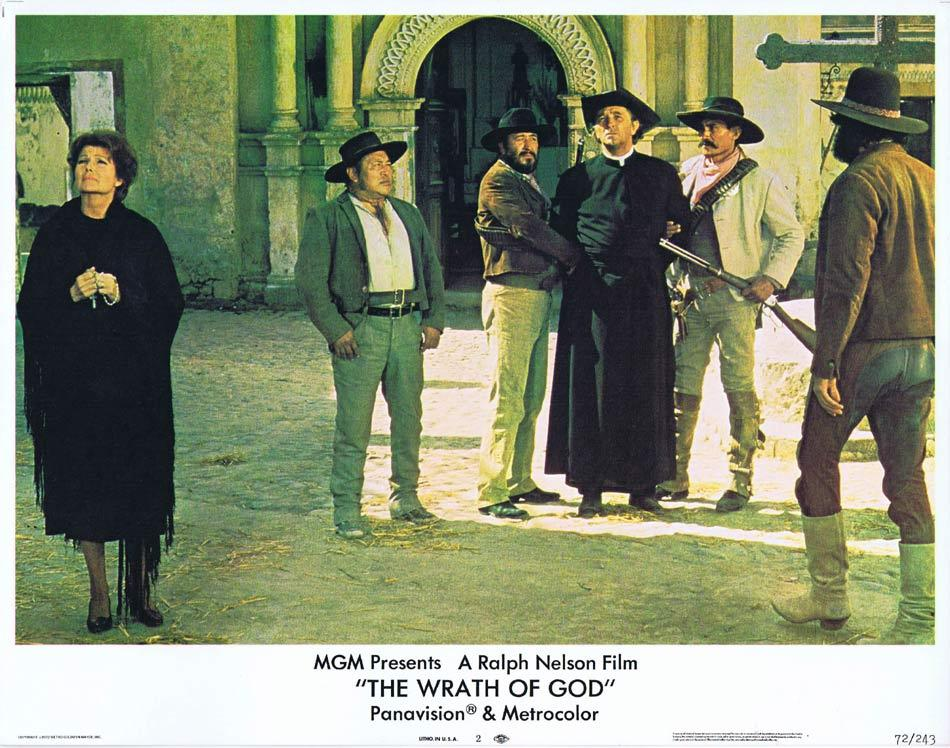 THE WRATH OF GOD Lobby Card 2 Robert Mitchum Rita Hayworth Frank Langella