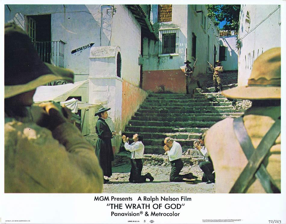 THE WRATH OF GOD Lobby Card 3 Robert Mitchum Rita Hayworth Frank Langella