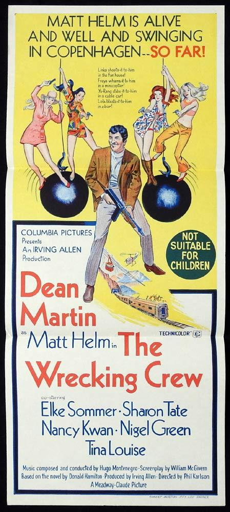 THE WRECKING CREW Original Daybill Movie Poster Dean Martin Matt Helm