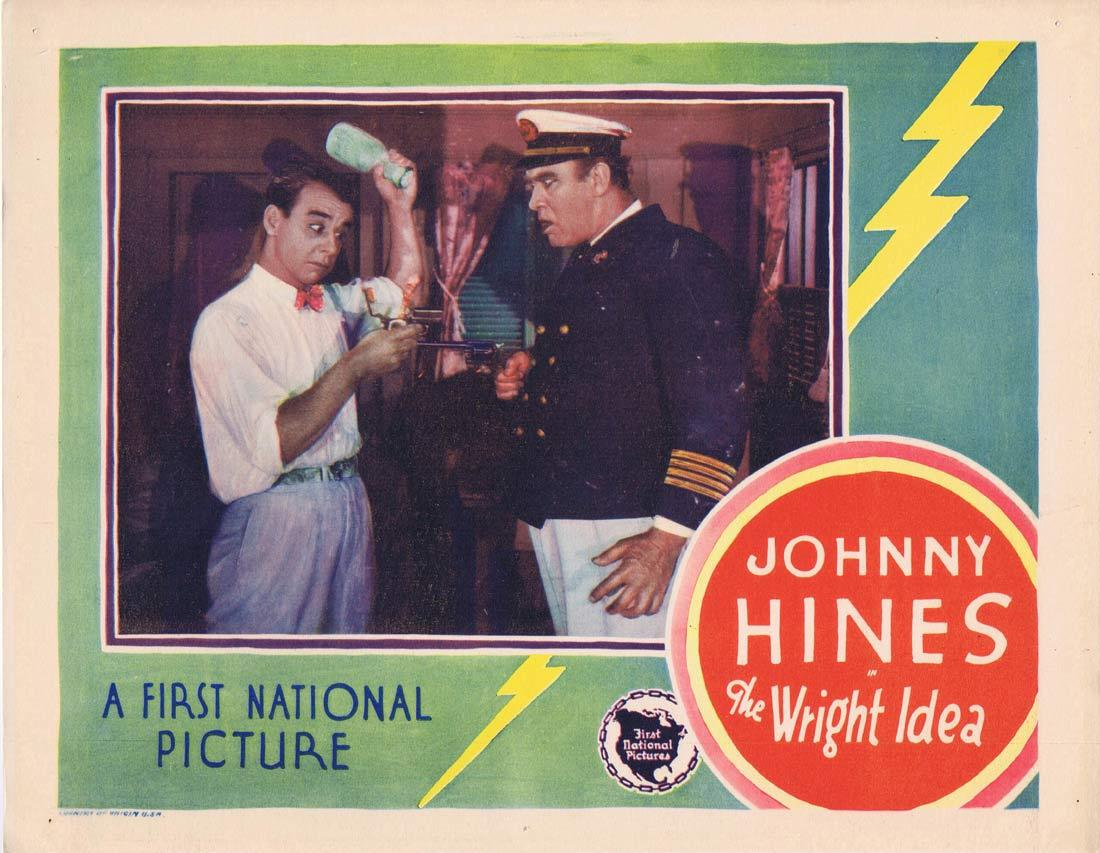 THE WRIGHT IDEA Lobby Card Johnny Hines Louise Lorraine Edmund Breese 1928