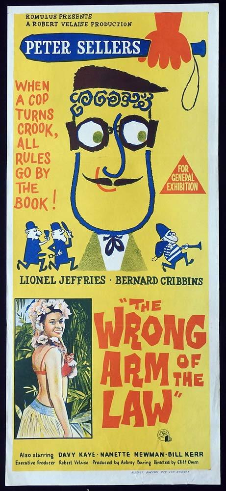 THE WRONG ARM OF THE LAW Original Daybill Movie Poster Peter Sellers